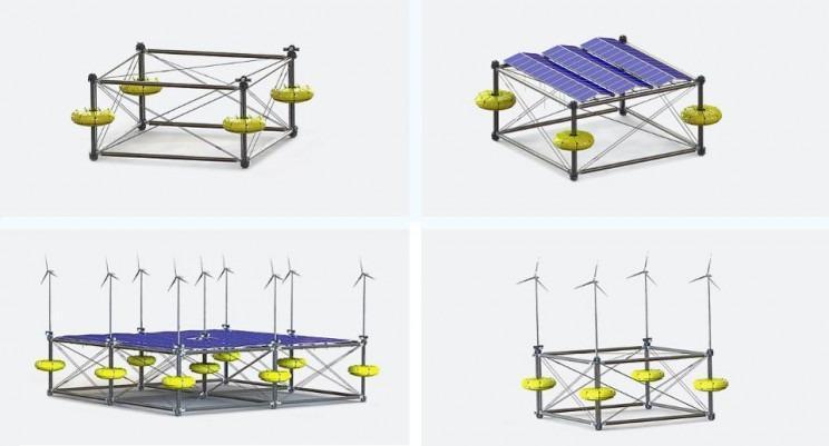 اولین پلتفرم شناور اقیانوسی انرژی را ذخیره می کند