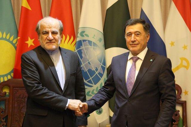 ملاقات سفیر ایران در چین با دبیرکل سازمان همکاری شانگهای