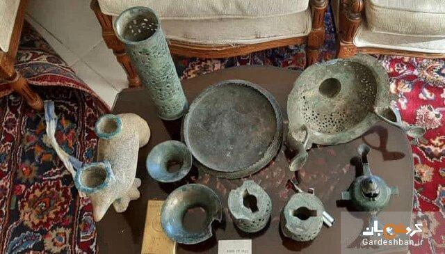 کشف عتیقه جات 1500ساله از منزلی در سمنان، عکس