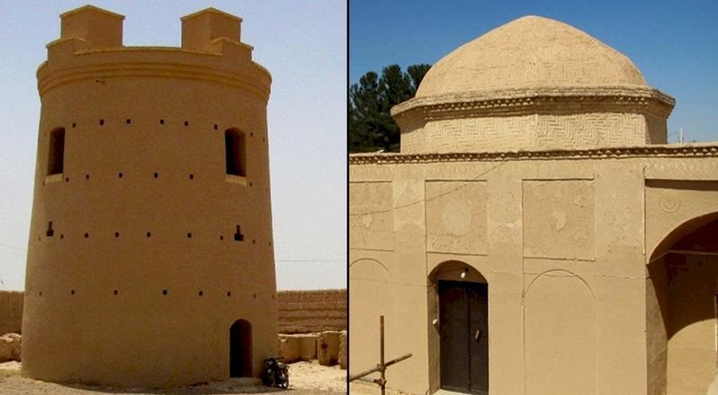 بازسازی اضطراری 2 بنای تاریخی مهردشت ابرکوه
