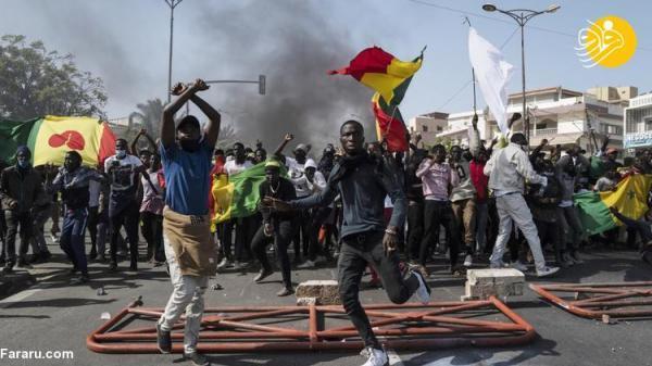 (تصاویر) سنگال؛ صحنه درگیری مخالفان با دولت