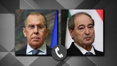 گفتگوی تلفنی وزرای خارجه روسیه و سوریه