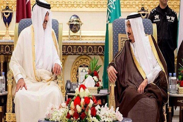 امیر قطر تلفنی با پادشاه عربستان مصاحبه کرد