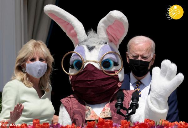(تصاویر) جو بایدن و همسرش در مراسم عید پاک