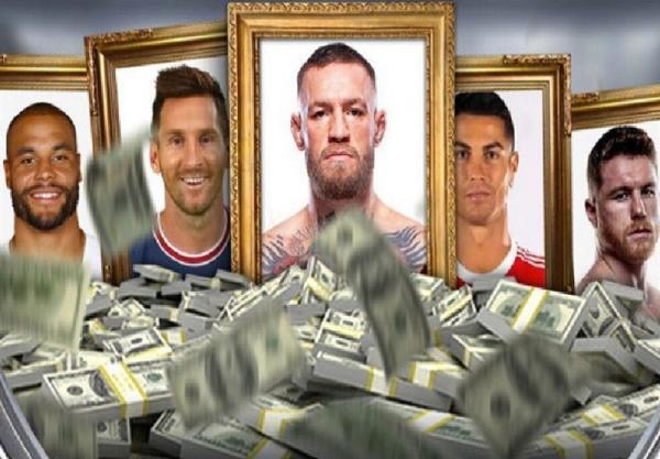اعلام لیست پردرآمدترین ورزشکاران دنیا از سوی فوربس؛ مک گرگور بالاتر از رونالدو و مسی، یک ورزشکار ایرانی الاصل در جمع 20 نفر اول